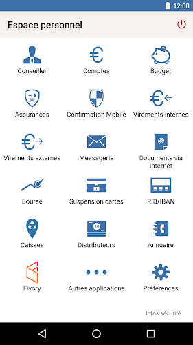 Crédit Mutuel Android App Screenshot