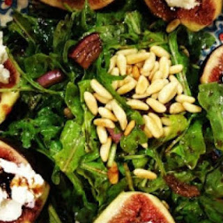 Salad Of Warm Figs W Goat Cheese And Balsamic Glaze