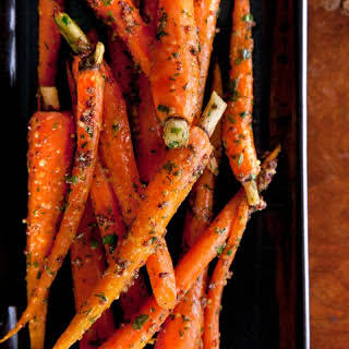 Roasted Baby Carrots with Mustard-Herb Butter.