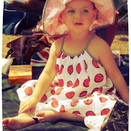 by Kerrie Bosson - Babies & Children Child Portraits ( strawberries )
