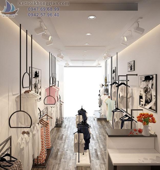 thiết kế cửa hàng thời trang Elimaz chị Hà 21 Núi Trúc