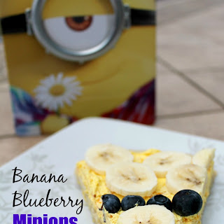 Banana Blueberry Minions Dessert Pizza