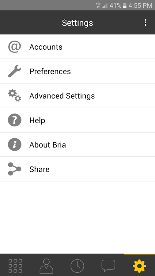 Bria Stretto™ for Android- screenshot