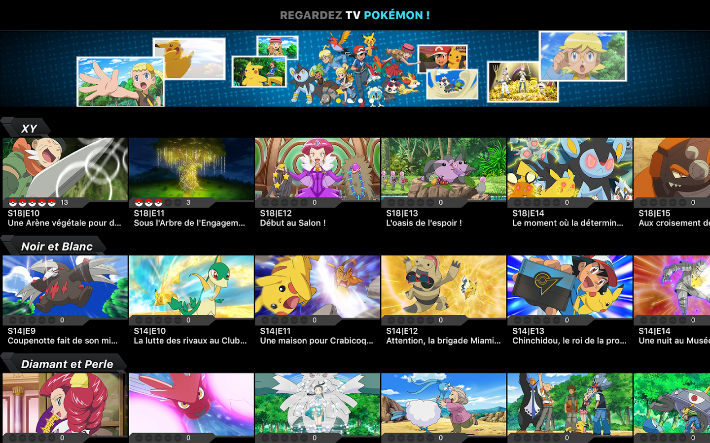 TV Pokémon – Capture d'écran