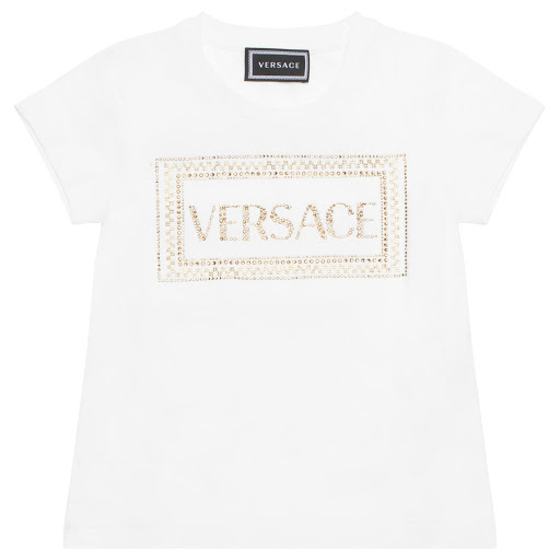 Primary image of Young Versace Studded Logo T-shirt