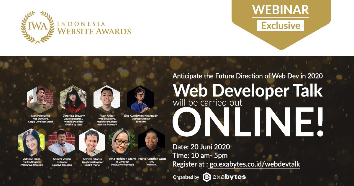 Inilah Pembicara Yang Akan Hadir di Web Developer Talk