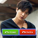 Video call Lee min ho, fake call prank icon