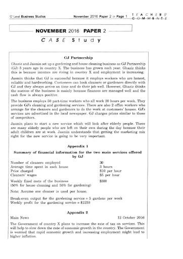 may june 2013 business studies paper2 7115