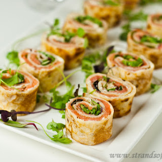 Salmon, Cream Cheese Pancake Rolls - gluten-free & Low FODMAP