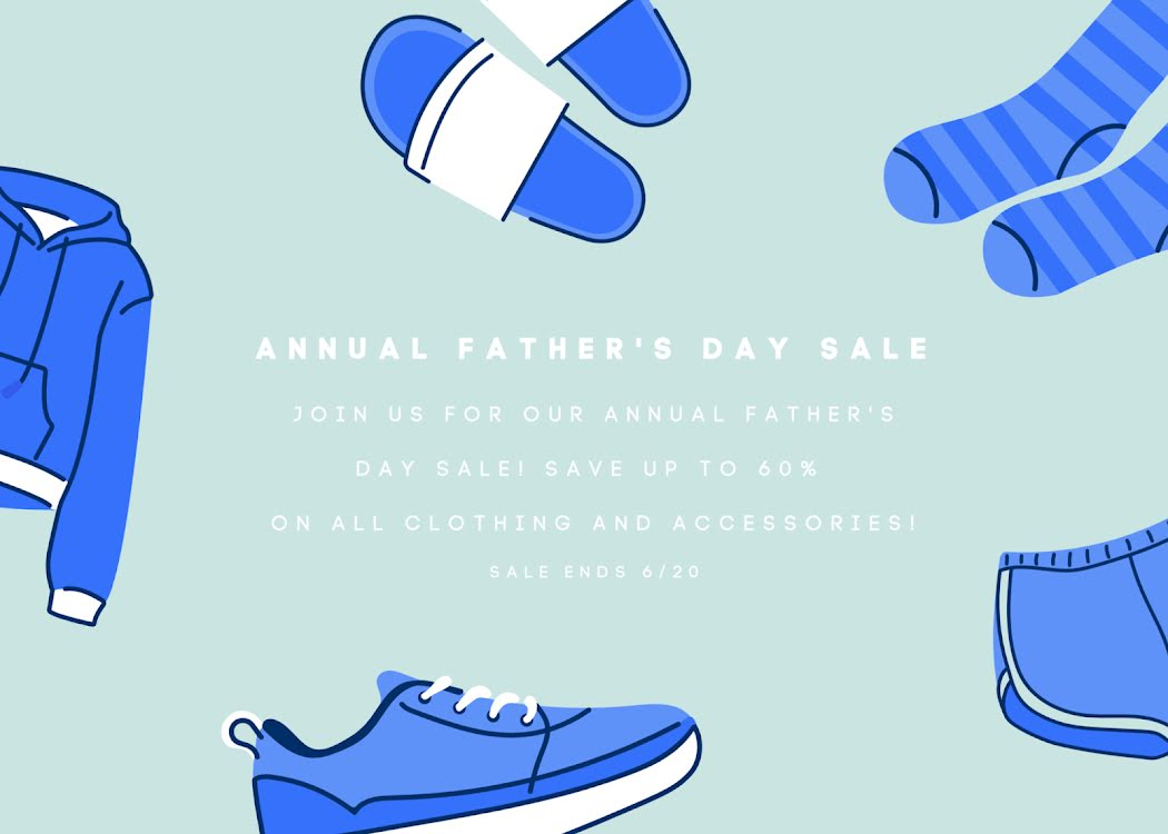 Father's Day Clothing Sale - Father's Day Card Template