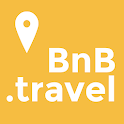 B&B finder. Bed and Breakfast or hotel near by me icon