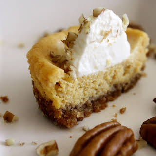 Pumpkin Goat Cheese Cheesecakes with Maple Whipped Cream.