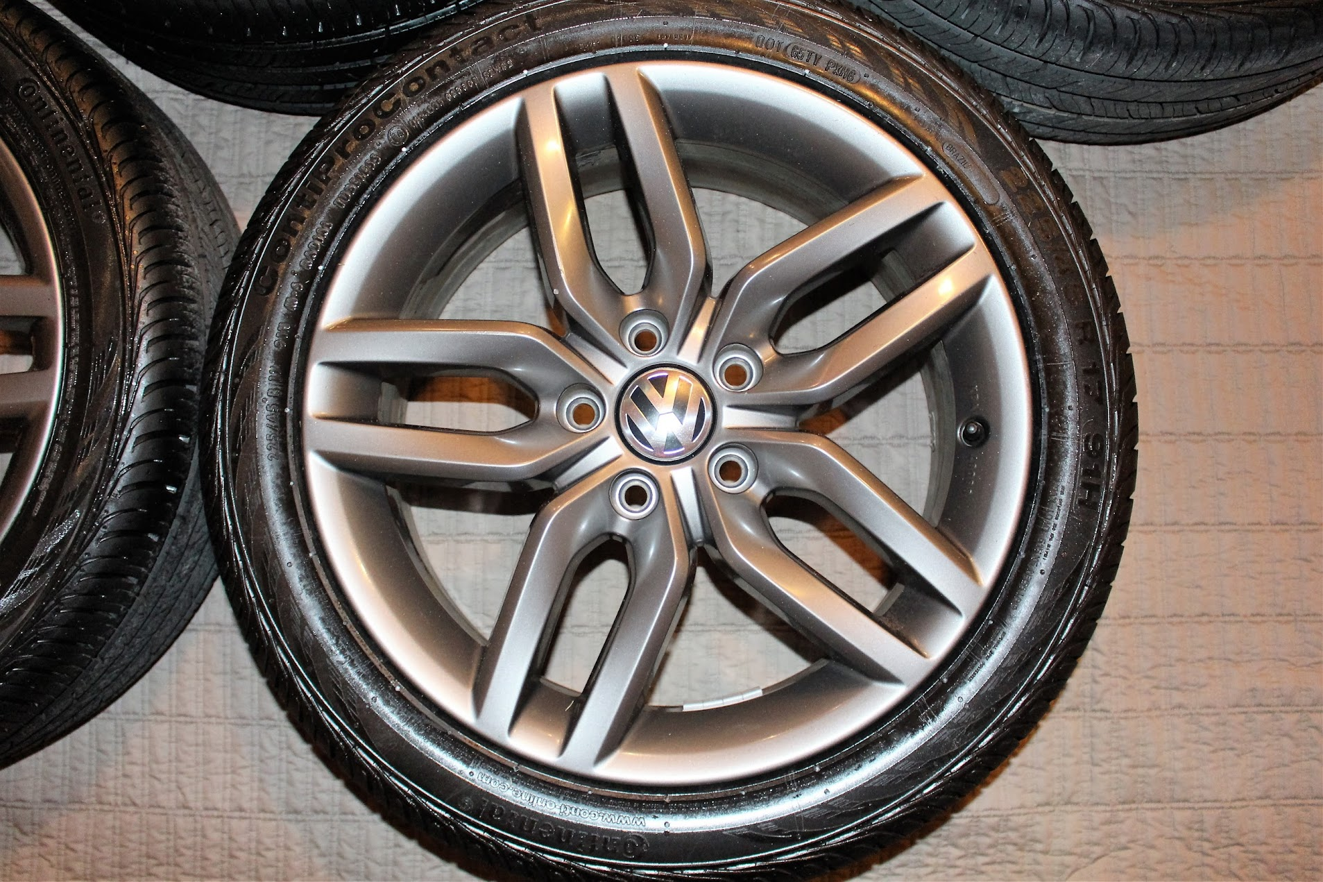 Oem Vw Helix 17 Quot Wheels With New Continental Rubber Vw