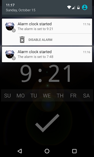 Good alarm clock without ads with music and widget screenshot 7