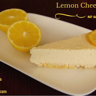 No Bake Lemon Cheesecake.