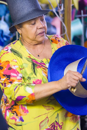 Georgiette Morgan-Thomas, founder of American Hats, creating a hat.