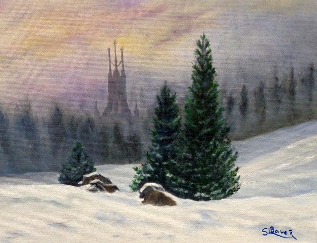 """Haven in the Wilderness"" by Sharon Bauer. Oil"