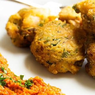 Gluten Free Chickpea Shrimp Fritters