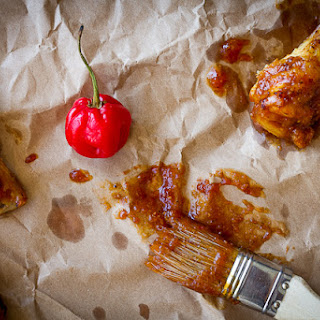 Hot Wings with Red Savina & Nectarine Sauce