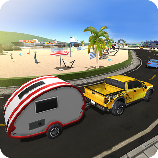 Camper Van Truck Simulator: Beach Car Trailer