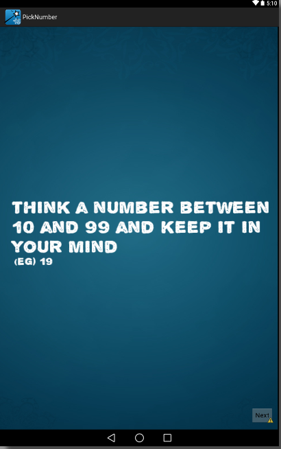 Think A Number - screenshot