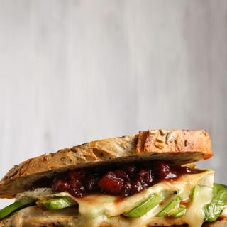 Grilled Chicken and Brie Sandwich with Cranberry Chutney