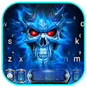 Blue Evil Skull Warrior Keyboard Theme icon