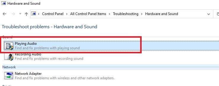 troubleshooting playing audio Tab