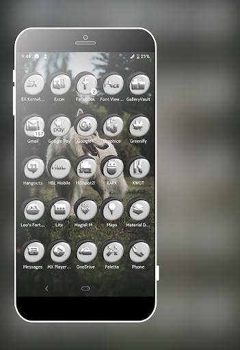 Download Grayish White Icons Pack MOD APK 3