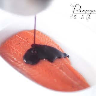 Pomegranate Glazed Salmon.