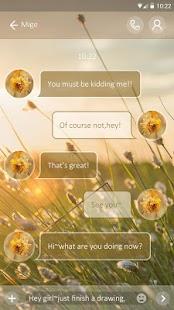 (FREE) GO SMS DUSK THEME - náhled