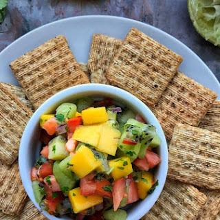 Easy Mango Kiwi Salsa.