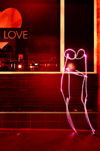 Photo: First Kiss - Light painting by Christopher Hibbert, french photographer and light painter. Further information: http://www.christopher-hibbert.com