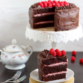 Red Wine Chocolate Raspberry Cake - Filling, Icing, Decorating + Recipes