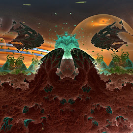 Hell; Has No Name by Rick Eskridge - Illustration Sci Fi & Fantasy ( jwildfire, mb3d, fractal, fantasy mood, twisted brush )
