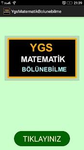 YGS Matematik Bölünebilme - náhled