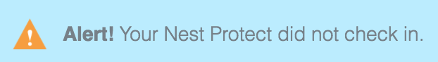 Nest Protect check in issue image