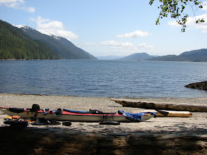 Photo: My campsite at Mosley Point in Grenville Channel looking southeast.