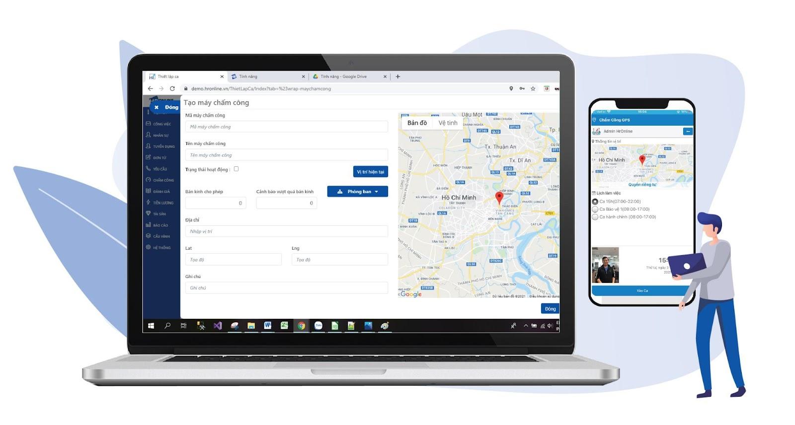 HrOnline - App quản lý nhân viên hiệu quả cho doanh nghiệp
