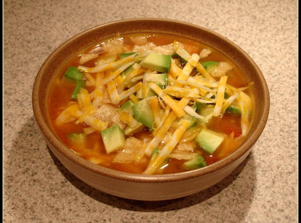 Homemade Chicken Tortilla Soup Recipe