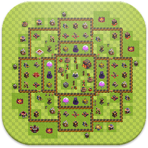 Strategy Bases Layout for Coc for PC