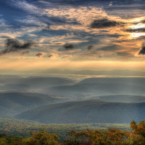 West Virginia Sunrise by James Reil - Landscapes Mountains & Hills ( hills, dolly sods wilderness, hdr, fog, west virginia, dolly sods, sunrise )