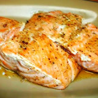 Buttery Baked Salmon.