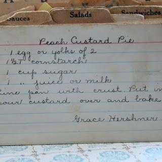 Peach Custard Pie.