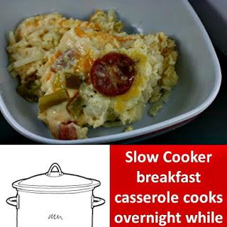CrockPot Hash Brown Breakfast Casserole.