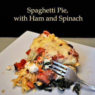 Spaghetti Pie with Ham and Spinach