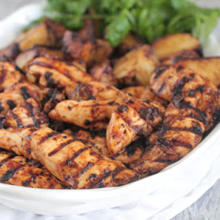 Spicy Apple BBQ Grilled Chicken and Potatoes