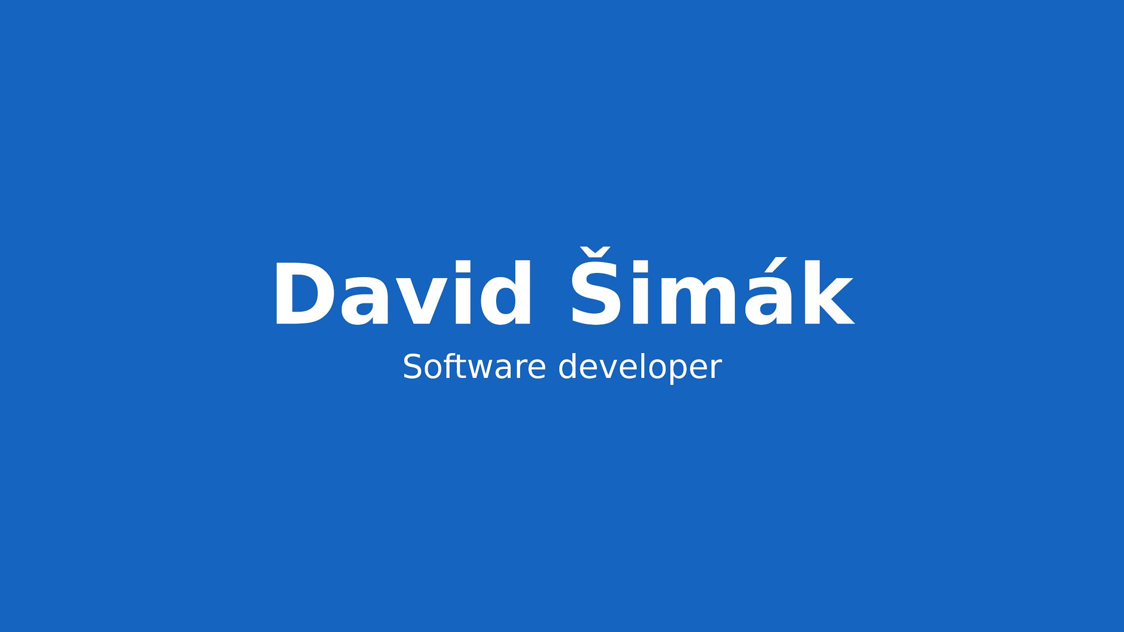 David Šimák