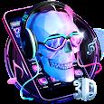 3D DJ Skull & Rock Music Theme apk