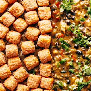 Southwest Sweet Potato Tater Tot Hotdish